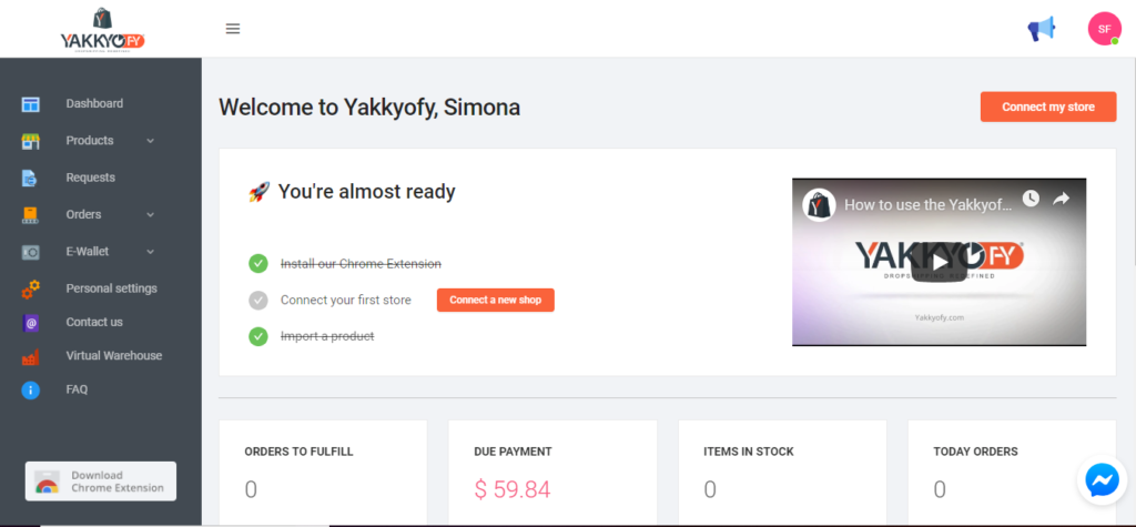 Connect woocommerce with Yakkyofy